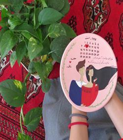 بشقاب دیواری سالگرد ازدواج (کد 02)