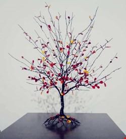 مجسمه مینیاتوری پاییز سه رنگ